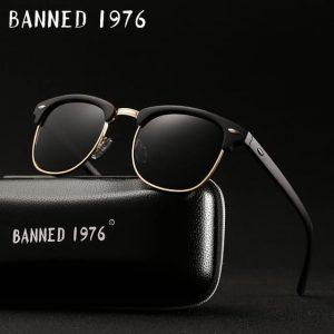 BANNED 1976 RETRO unisex napszemüveg – UV400 védelem – Többféle szín – Ajándék doboz és kendő