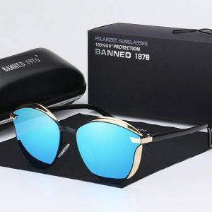 BANNED 1976 LUX női napszemüveg – UV400 védelem – Többféle szín – Ajándék doboz,és kendő – Kék