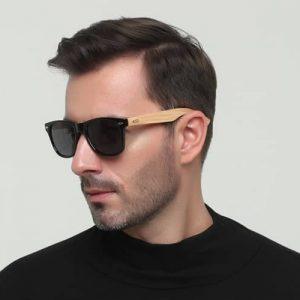 Vintage napszemüveg – Bambusz szár – UV400 védelem – Többféle szín – Ajándék táska és kendő