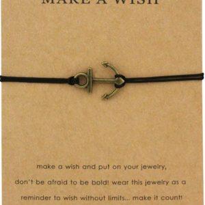 Anchor Wish karkötő Jókívánság kártyával – Többféle színben – bevezető áron