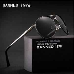 BANNED 1976 Terra férfi napszemüveg – UV400 védelem – Többféle szín – Ajándék doboz és kendő
