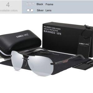 BANNED 1976 Carbon férfi napszemüveg – UV400 védelem – Többféle szín – Ajándék doboz és kendő