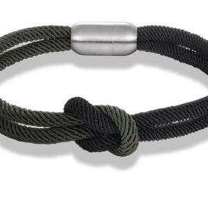 Csomós mágnescsatos karkötő – Carama style – Több színben – Paracord textil – Akár ingyenes szállítással