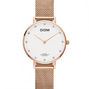 DOM Rosegold Női Karóra – Ajándék díszdoboz – Bevezető ár – 1 év gyártói garancia