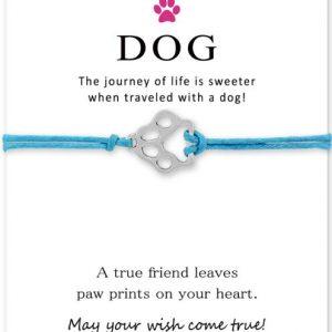 DogLove karkötő Jókívánság kártyával – többféle színben – bevezető áron