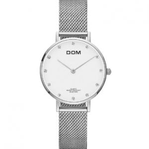 DOM Silver Női Karóra – Ajándék díszdoboz – Bevezető ár – 1 év gyártói garancia
