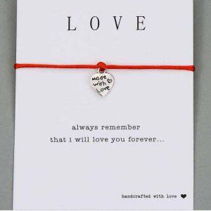 LoveMore Single karkötő Jókívánság kártyával – többféle színben – bevezető áron
