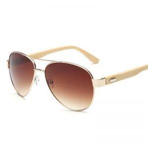 Aviator napszemüveg – Bambusz szár – UV400 védelem – Többféle szín – Unisex kivitel – Ajándék táska és kendő