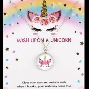 StreetDesign Unicorn Nyaklánc Jókívánság kártyával – Többféle kivitel – bevezető áron