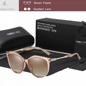 BANNED 1976 Heart női napszemüveg – UV400 védelem – Többféle szín – Ajándék doboz és kendő