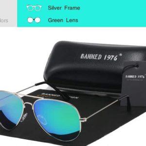 BANNED 1976 Avenger unisex napszemüveg – UV400 védelem – Többféle szín – Ajándék doboz és kendő