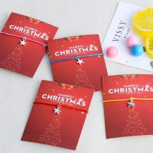 LoveMore Christmas karkötő Jókívánság kártyával – többféle színben – bevezető áron