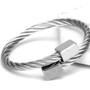 Brange Titanium Silver -Férfi Luxury karkötő