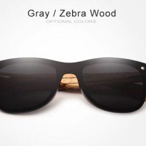 KINGSEVEN ZebraWood unisex napszemüveg – UV400 védelem – Többféle szín – Ajándék fa doboz és kendő