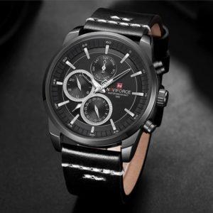 NaviForce Monaco Black edition Férfi Luxury Karóra – 2-féle ajándék díszdoboz