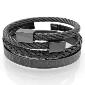 Brange Titanium – Férfi Luxury karkötő szett – 2féle színben