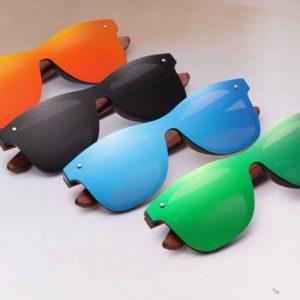 KINGSEVEN BubingaWood unisex napszemüveg – UV400 védelem – Többféle szín – Ajándék fa vagy bőr doboz és kendő
