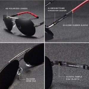 KINGSEVEN Potenza férfi napszemüveg – UV400 védelem – Többféle szín – Ajándék bőr doboz és kendő