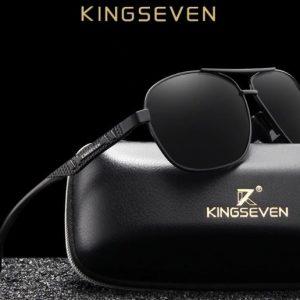 KINGSEVEN Hyper férfi napszemüveg – UV400 védelem – Többféle szín – Ajándék bőr doboz és kendő